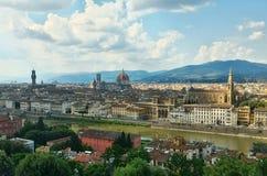 Панорама к Флоренсу Стоковое фото RF