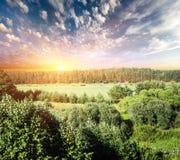 Панорама ландшафта внешняя Стоковые Фото
