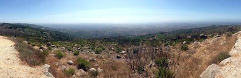 Панорама ландшафта горы в Португалии Стоковая Фотография