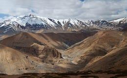 Панорама ландшафта горы в Ladakh, Индии Стоковое Фото