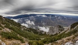 Панорама ландшафта горы Стоковые Изображения RF