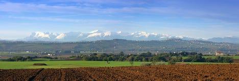 панорама ландшафта красивейшего сумрака итальянская Стоковые Изображения