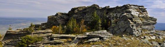 панорама Ландшафт горы осени Стоковая Фотография RF