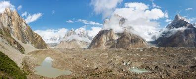 Панорама ледника Baltoro, Пакистан Стоковые Фотографии RF
