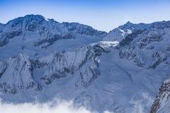 Панорама ледника Presena Стоковое Фото