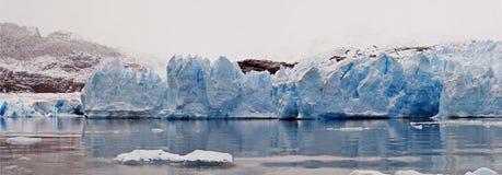 панорама ледникового льда Стоковые Фото
