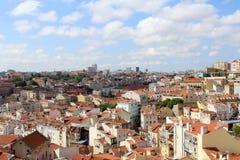 Панорама Лиссабона, столица, Португалия стоковое фото rf