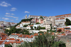 Панорама Лиссабона, столица, Португалия стоковые фото