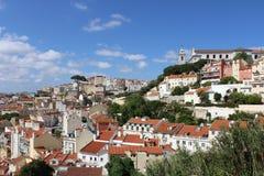 Панорама Лиссабона, столица, Португалия стоковая фотография