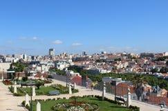 Панорама Лиссабона, столица, Португалия стоковое изображение rf