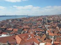 Панорама Лиссабона стоковое изображение