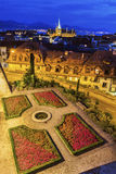 Панорама Лозанны с церковью Свят-Francois Стоковая Фотография RF