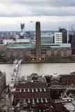 Панорама Лондона с Tate современным Стоковые Фото