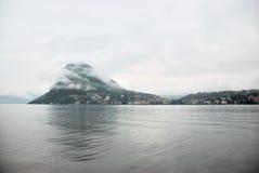 Панорама Лугано, Швейцария Стоковые Изображения RF