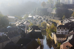 панорама Люксембурга Стоковые Фотографии RF