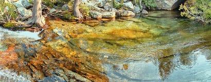 Панорама маленького пруда около Лаке Таюое, Калифорнии Стоковые Фото