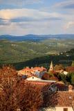 Панорама малой деревни в Хорватии Стоковая Фотография RF