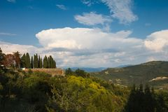 Панорама малой деревни в Хорватии Стоковое фото RF