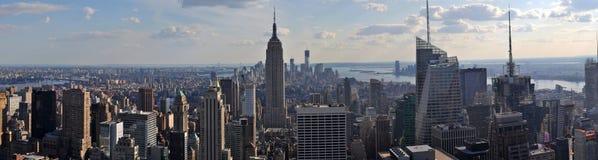 Панорама Манхаттан NYC Стоковое Фото