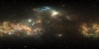панорама межзвёздного облака космоса 360 градусов, equirectangular проекция, карта окружающей среды Панорама HDRI сферически Пред иллюстрация штока