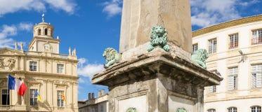 Панорама Место de Republique Arles, Франция стоковые изображения rf
