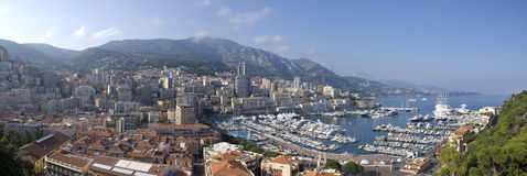 панорама Монако Стоковое Фото