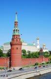 Панорама Москвы Кремля весной Стоковые Фотографии RF