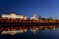 Панорама Москвы Кремля в раннем утре Стоковое Изображение RF