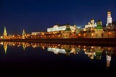 Панорама Москвы Кремля в раннем утре Стоковое Изображение