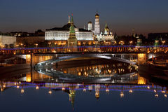 Панорама Москвы на зоре. Россия Стоковая Фотография RF