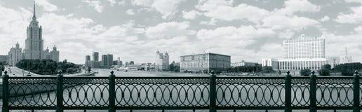 Панорама Москвы принятая от моста Novoarbatsky Стоковое фото RF