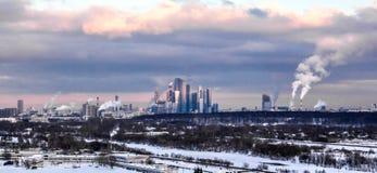 Панорама Москвы стоковые изображения rf