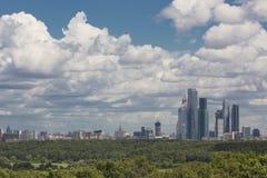 Панорама Москвы Стоковое фото RF