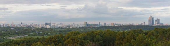 Панорама Москвы Стоковая Фотография