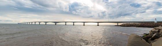 Панорама моста конфедерации Стоковое фото RF