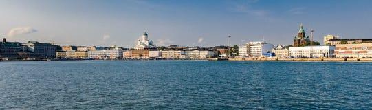 Панорама набережной Хельсинки, Финляндия Стоковая Фотография
