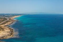 Панорама накидки nikra Rosh ha Израиль стоковое изображение rf