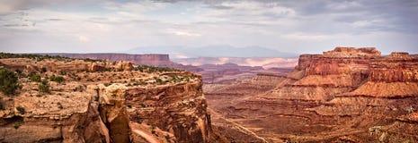 Панорама национального парка Canyonlands, Юты Стоковые Фото