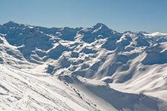 Панорама на горах Ecrins от вершины Ла Masse Стоковое Фото