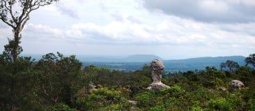 Панорама на национальном парке PA HIN NGAM Стоковая Фотография