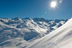 Панорама на пути вниз от Ла Masse Стоковые Фото