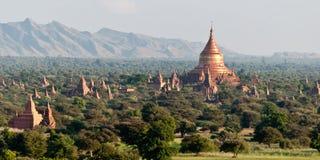 Панорама над Bagan Стоковое Изображение