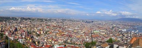 Панорама Неаполь - Италии стоковое изображение