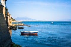 Панорама Неаполь, Италии Стоковое Изображение RF
