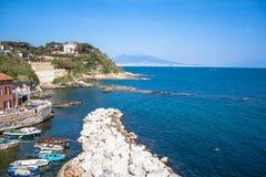 Панорама Неаполь, Италии Стоковая Фотография RF