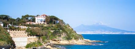 Панорама Неаполь, Италии Стоковое Фото