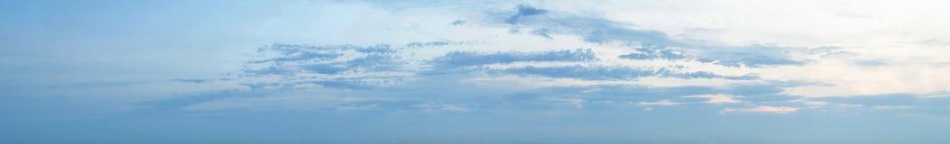 Панорама неба захода солнца Стоковое Изображение RF