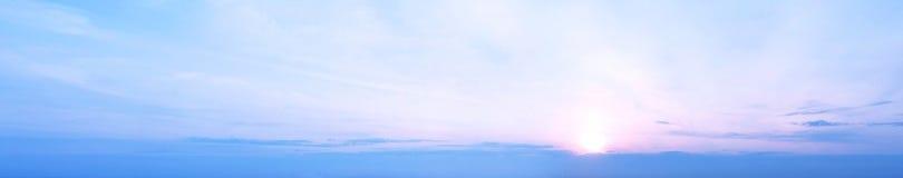 Панорама неба захода солнца Стоковое Фото