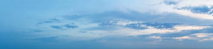 Панорама неба захода солнца Стоковые Фото