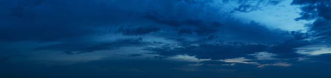 Панорама неба захода солнца Стоковые Изображения RF